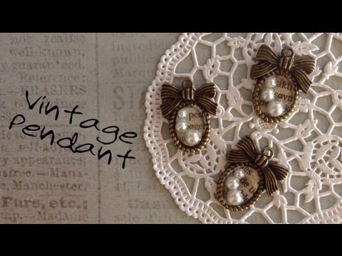 DIY Jewelry Vintage Metal Pendant