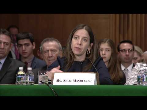 Reed Questions Nominees at Senate Banking Committee Hearing