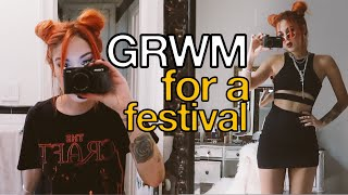 GRWM FOR GOV BALL - Hair, make up & outfit!