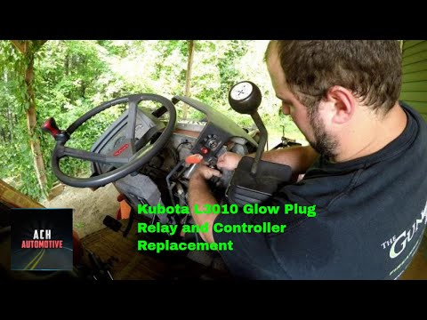 Kubota L3010 Glow Plug Relay And Controller Replacement