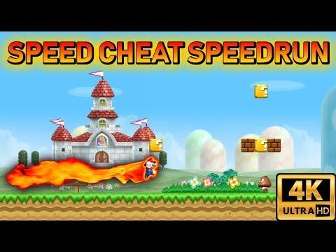 [TAS] New Super Mario Bros Wii Speed Cheat Speedrun | 4K 60FPS