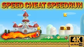 [TAS] New Super Mario Bros Wii Speed Cheat Speedrun | 4K 60FPS