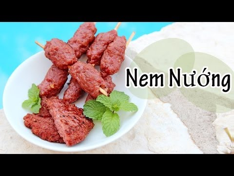 ❀Cooking With Mom: Nem Nuong {Grilled Pork Sausages/Patties}