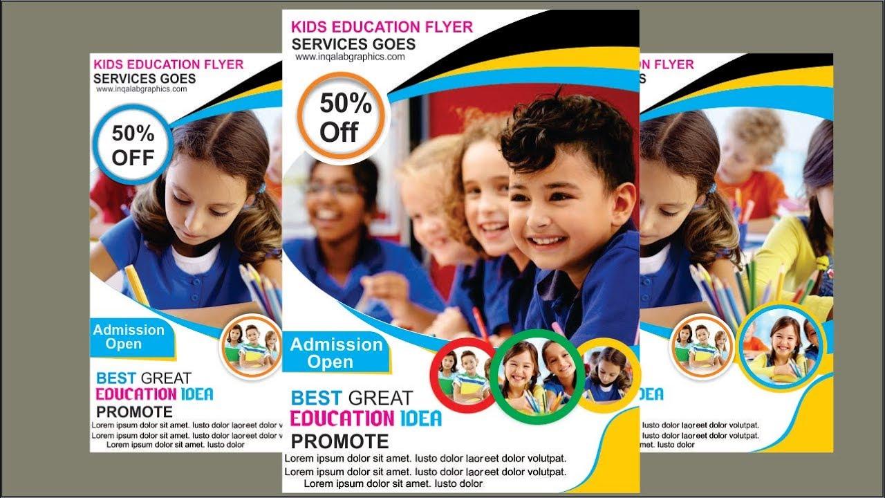 How to Make School Brochure Design In CorelDraw X7 | Creating School Banner Design