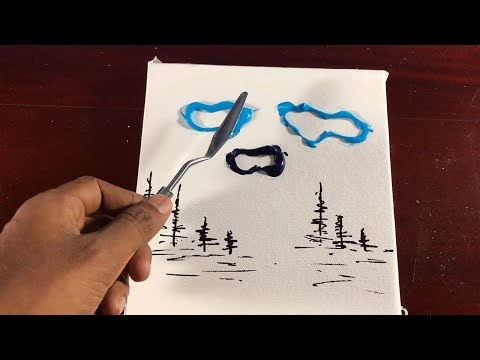 Easy Abstract Landscape Painting / Easy for beginners / Relaxing / #98