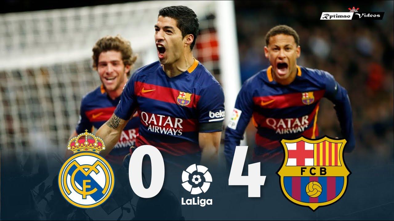 Real Madrid 0 x 4 Barcelona  La Liga 1516 Extended Goals u0026 Highlights HD