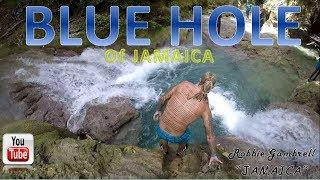 JAMAICA'S BLUE HOLE!! My happy place :)