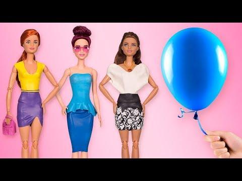 Un vestido de Barbie en 5 minutos? Un tutorial paso a paso