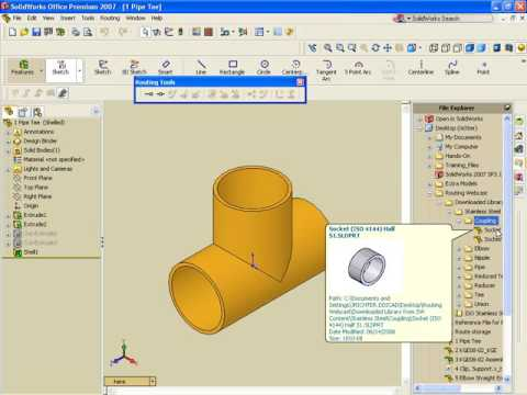 Video Archive: SOLIDWORKS Routing - Pipe & Tube Routes
