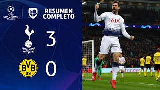 Tottenham 3-0 Borussia Dortmund – GOLES Y RESUMEN – IDA OCTAVOS DE FINAL – UEFA Champions League