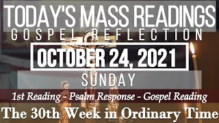 Today's Mass Readings & Goṡpel Reflection | October 24, 2021 - Sunday (30th Week in O.T.)
