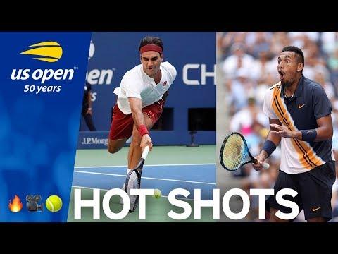 US Open Hot Shot: Roger Federer Goes AROUND The Net