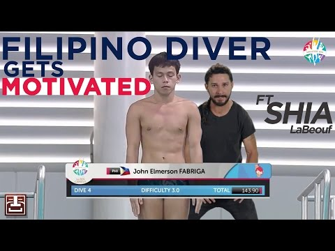 Filipino Diver Gets Motivated by Shia LaBeouf - 2015 thumbnail