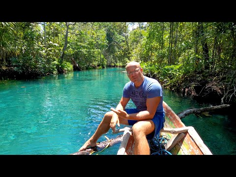 Indo Tales Episode 2  Jungle River, Fishing With Nets And Grilling Fish On A Remote Island Beach