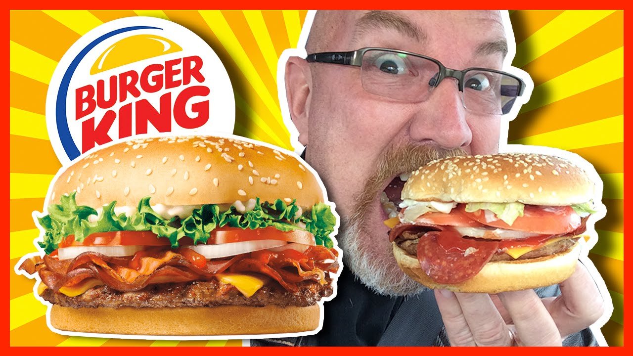 Burger King Pepperoni Bacon Whopper Review Youtube