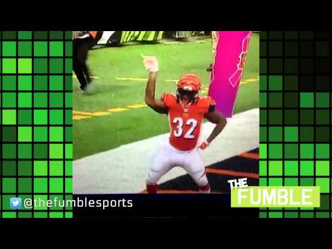 Bengals' Jeremy Hill Does 'Ickey Shuffle' After Touchdown Against Panthers