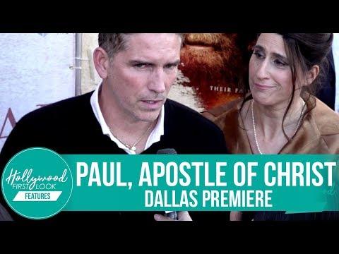 JAMES FAULKNER & JIM CAVIEZEL for Paul, Apostle of Christ  Dallas Premiere