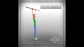 Kipping Pull-Up Exercise Animation | Single Cell Animation