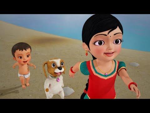 கை வீசம்மா கைவீசு | Tamil Rhymes for Children | Infobells