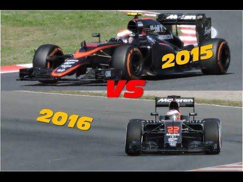 F1 2015 vs F1 2016 Pure Engine Sound Comparison HD