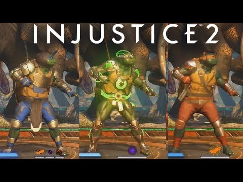 INJUSTICE 2 - TMNT EPIC GEAR LOADOUTS & ABILITIES!!! Teenage Mutant Ninja Turtles