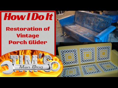 Restoration Of Vintage Porch Glider Youtube