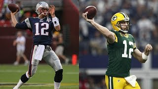 Who can throw a hail mary first?!?tom brady vs aaron rodgers!! madden 18 challenge!!