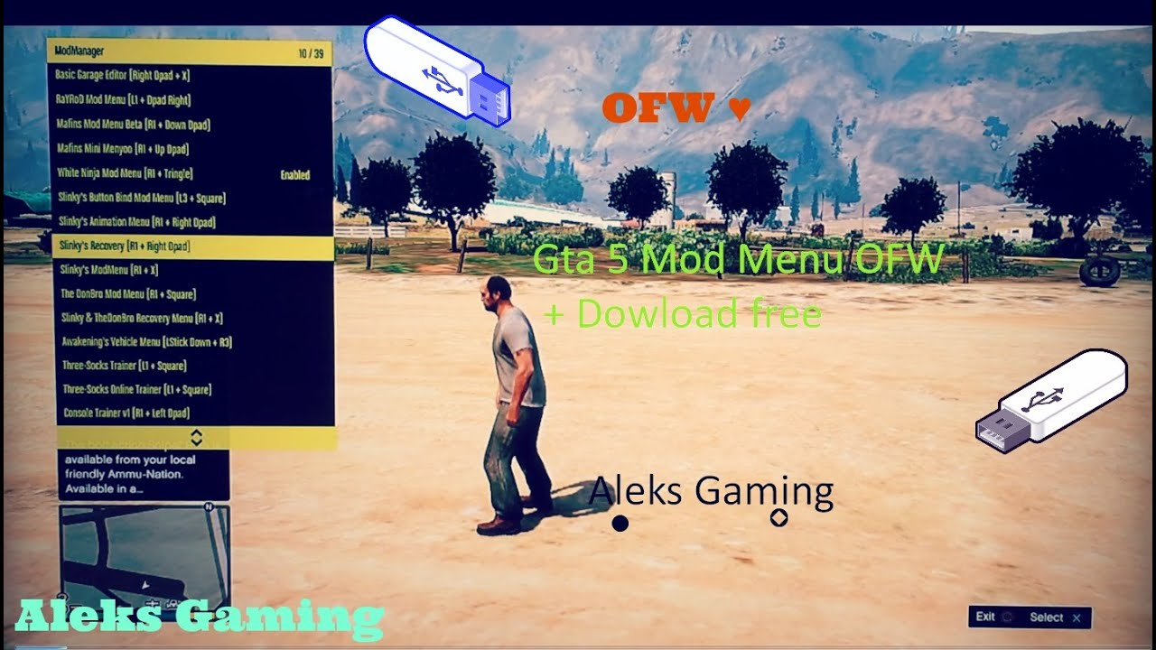 Gta 5 Mod MENU OnlineOffline 125126 OFW YouTube