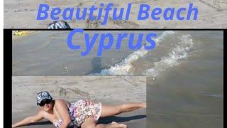 Beautiful Beach Cyprus.Geroskipou Beach.