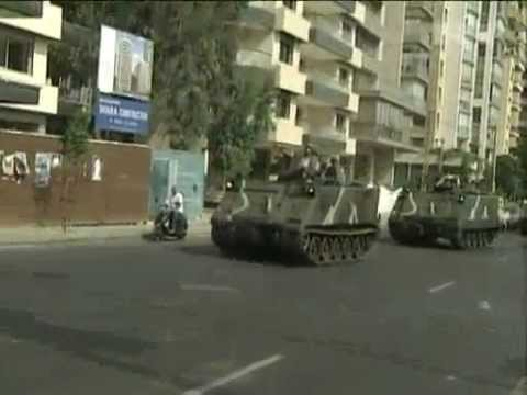 Oct 23, 2012 Lebanon_Fighting stops between armed oppositon and army in Beirut