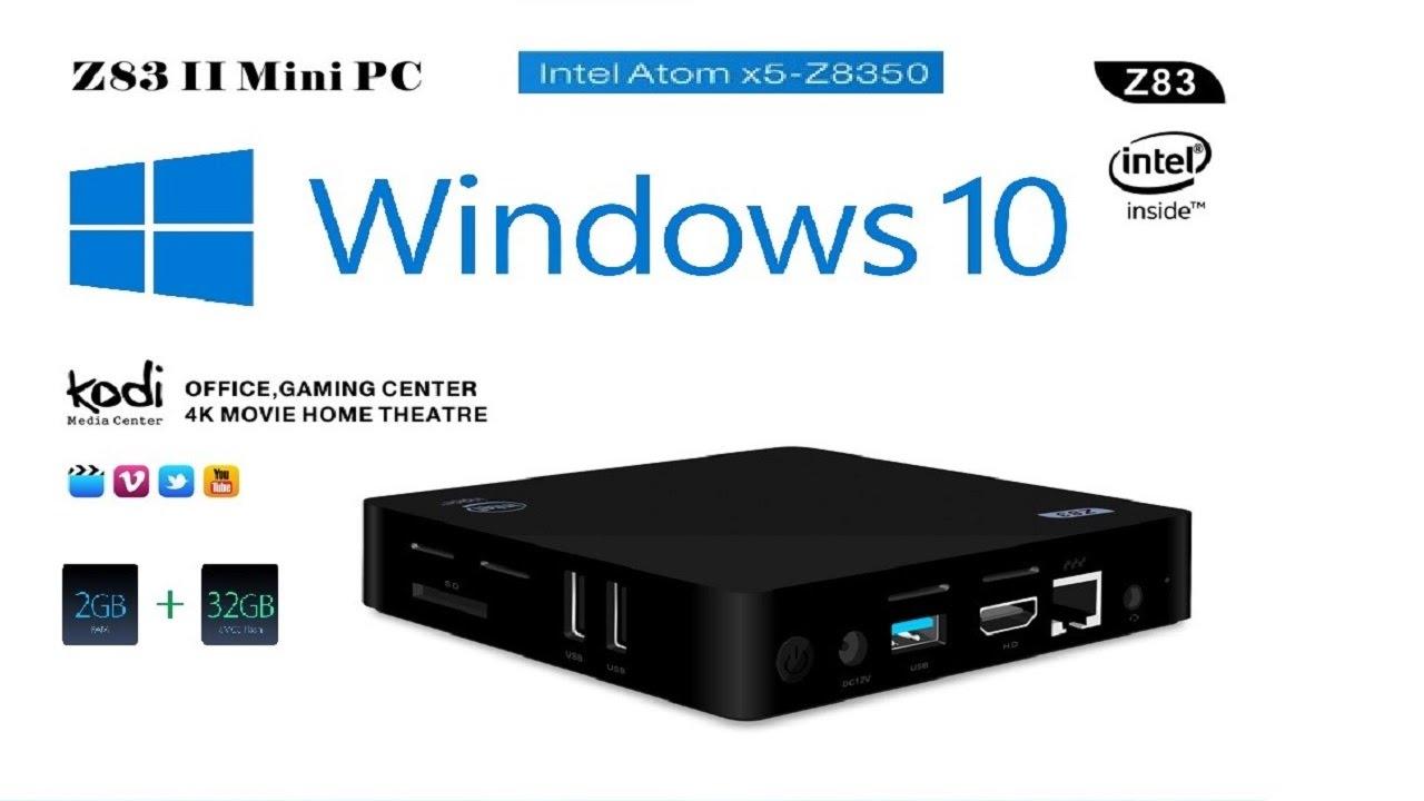 Z83 II Mini PC Windows 10 Intel Atom x5 Z8350 Quad Core TV BOX