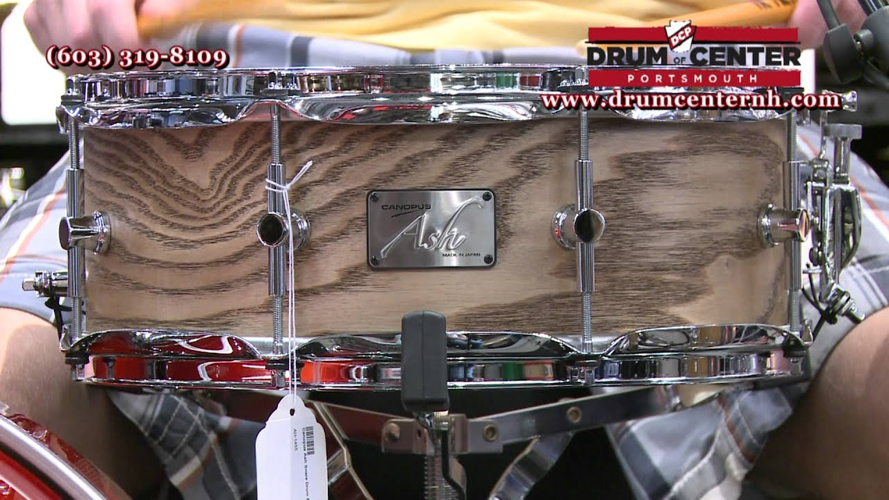 canopus ash snare drum youtube. Black Bedroom Furniture Sets. Home Design Ideas
