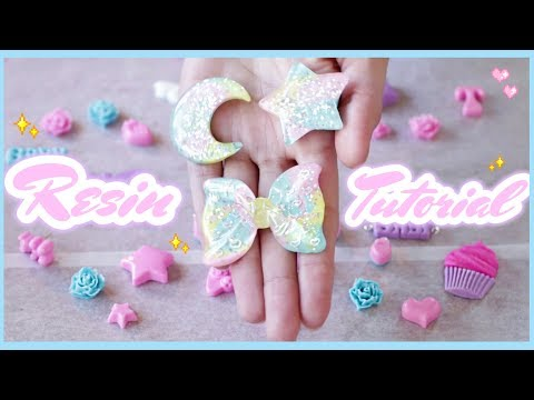 ♡ Kawaii Pastel Resin Charm Tutorial || HOW TO add hooks!