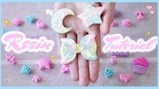 ♡ Kawaii Pastel Resin Charm Tutorial || HOW TO add hooks!
