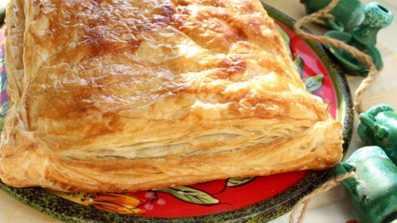 Пирог слоеное тесто фарш картофель рецепт #6