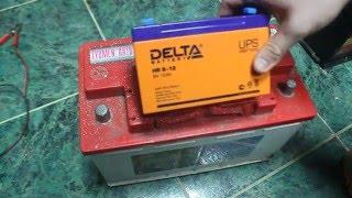 видео ИБП с внешним аккумулятором