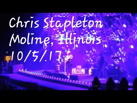 """Chris Stapleton """"Learning to Fly"""" (Tom Petty cover) 10/5/17 Moline, Illinois"""