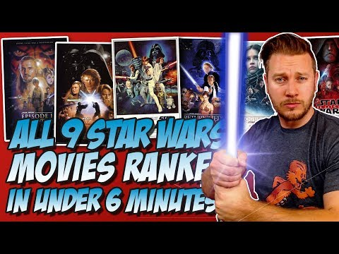 All 9 Star Wars Movies Ranked From Worst to Best w Star Wars: The Last Jedi