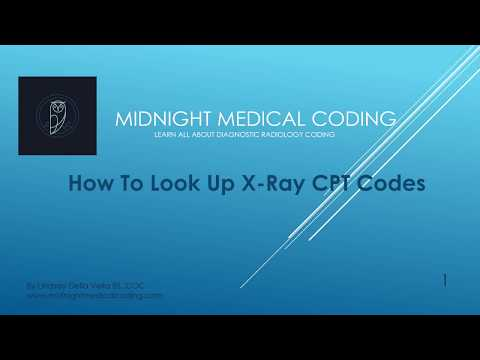 How To Look Up X Ray CPT Codes