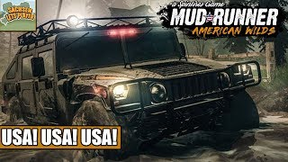 SpinTires American Wilds #01 - USA! USA! USA!  SpinTires Mudrunner