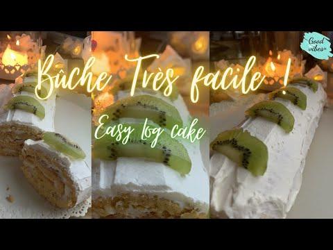 buche-de-fin-d'année-facile-et-rapide,-easy-roll-cake,roulé-facile-et-rapide,-new-year-easy-log-cake