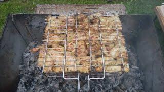 Vlog/один день на даче/жарим шашлыки, куриные крылышки и овощи