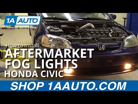 How to Install Aftermarket Foglights 01-05 Honda Civic