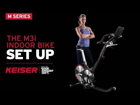 Keiser M3i Indoor Bike Setup