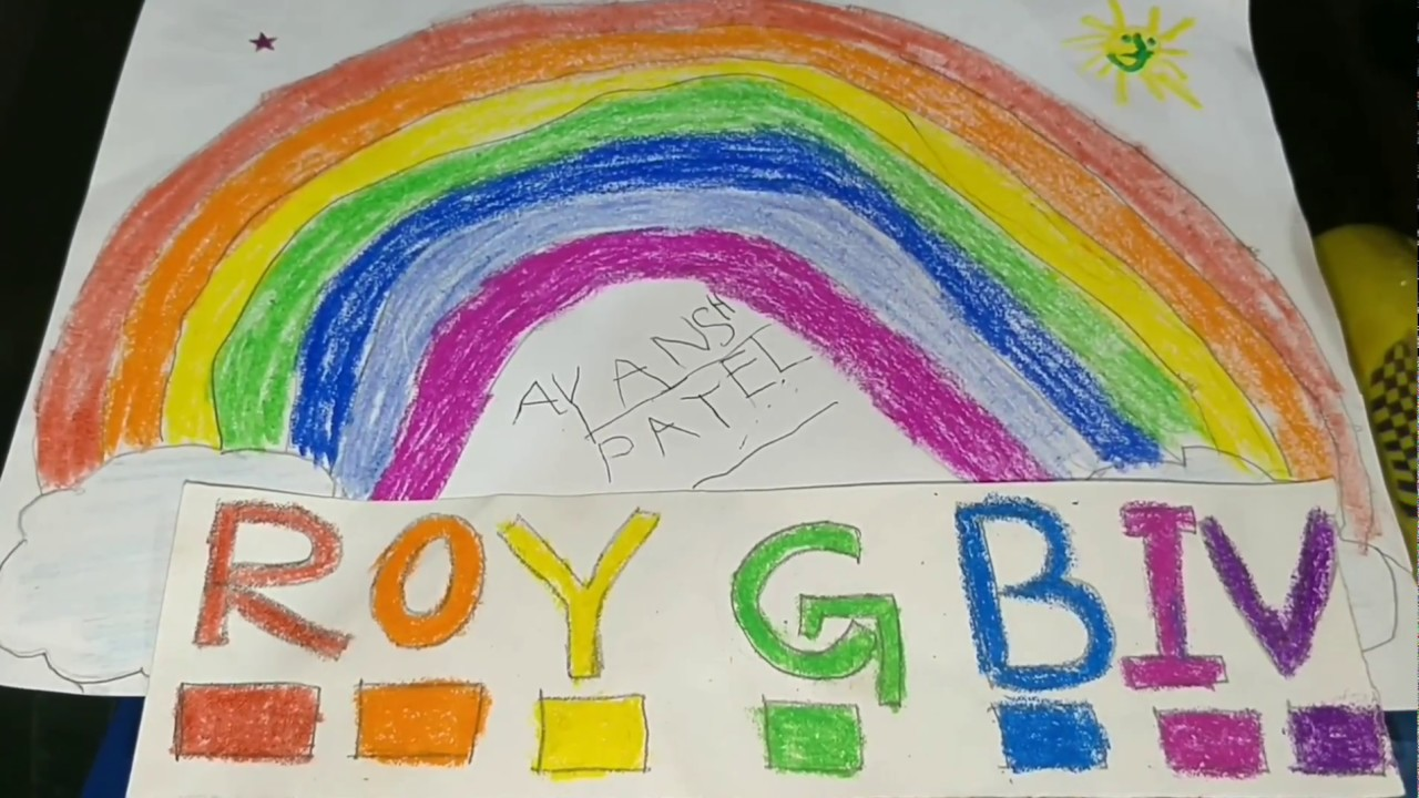 learn roygbiv for kids rainbow colour roygbiv with ayansh