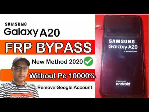 Bypass FRP Google Account Samsung A20 Without Pc New Method 100%