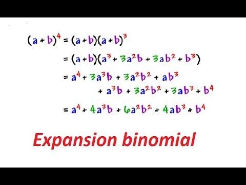 Expansion binomial (binomio de Newton) - YouTube