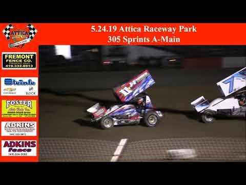5.24.19 Attica Raceway Park 305 Sprints A-Main