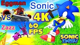 Sonic Dash - Sonic VS Zazz VS Eggman PC 4K 60 fps