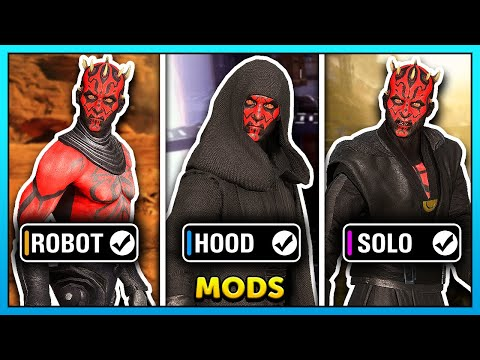 Star Wars Battlefront 2 Best Darth Maul Skin Mods! (Robot Legs, Solo, Hood) from YouTube · Duration:  5 minutes 29 seconds